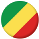 Congo-Brazzaville Country Flag 25mm Keyring